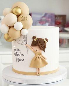 Beautiful Birthday Cakes, Beautiful Cakes, Amazing Cakes, Elegant Birthday Cakes, Cake Decorating Techniques, Cake Decorating Tips, Pretty Cakes, Cute Cakes, Fondant Cakes