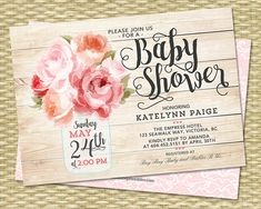 Bridal Shower Invitation Mason Jar Floral por SunshinePrintables