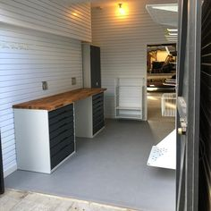 Finished on Friday in Cambridge, this garage really has been completely transformed.We have a video in preparation which gives you a real view on how it has gone from a dusty long garage into two separate areas. One for parking the car, the other for storage and DIY.We are really pleased with the results  #garagedesign #garagestorage #garageinterior #interiordesign #garageideas Regram via @garageflex Garage Storage Cabinets, Cupboard Storage, Cheap Tiles, Door Insulation, Garage Interior, Garage Remodel, Vertical Storage, Inside Design, Autos
