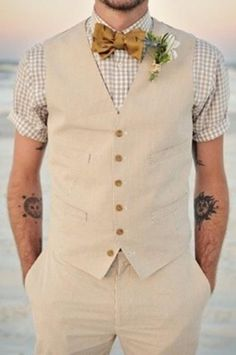 46 Cool Beach Wedding Groom Attire Ideas - #Wedding #Groomsmen #Attire
