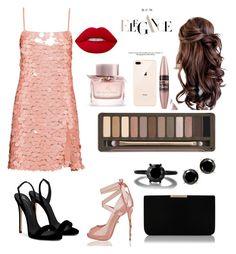 """elegancia"" by nazafernandez on Polyvore featuring moda, Miu Miu, Giuseppe Zanotti, L.K.Bennett, Urban Decay, Burberry, Maybelline, Lime Crime, Pink y NightOut"