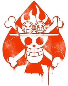 Ace jolly roger Ace One Piece, One Piece Seasons, One Piece Logo, One Piece Tattoos, Logo Manga, Ace Tattoo, The Pirate King, Manga Anime One Piece, One Piece English