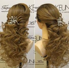 Beautiful curly ponytail