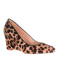 """Collection Martina calf hair wedges - """"streamlined, sculptural, stylish, comfortable..."""""""