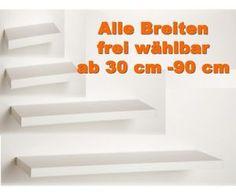 Wandboard Wandregal Hängeregal Sondermaße Weiss Breiten Wählbar 30 90 CM | eBay