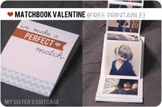 Matchbook Valentine with Instagrams