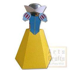 Porta Tubete Branca De Neve. Projeto de corte no formato GSD, à venda nos sites: http://www.artscrafts.com.br/ e http://www.cortecrie.com.br/