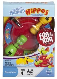Hungry Hungry Hippos Travel. This would be perfect for the kids! Even for just at home (so the marbles don't get lost, its covered!)