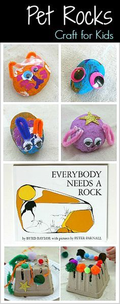 Pet Rocks (and Pet Rock Houses)- Search for rocks on your next outdoor walk and create this fun pet rock craft for Kids inspired by the book Everybody Needs a Rock. ~ BuggyandBuddy.com