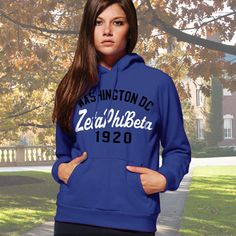 Zeta Phi Beta State and Date Printed Hoody $33.95 #Greek #Sorority #Clothing #Zeta #ZetaPhiBeta #Hoodie #Sweatshirt