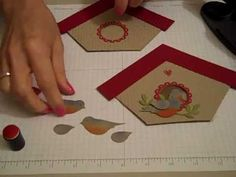 Cute tutorial for bird house card: