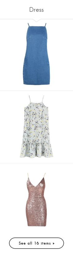 """""""Dress"""" by susanamarques16 ❤ liked on Polyvore featuring dresses, denim, straight dresses, blue pinafore dress, torn dress, pinafore dress, rock and roll dresses, vestidos, платья and dresses/rompers"""