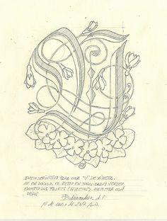 In uenerationem Titivillus: Iniciales Calligraphy Letters Design, Calligraphy Fonts, Caligraphy, Lettering Design, Gothic Alphabet, Celtic Knots, Vintage Typography, Penmanship, My Journal