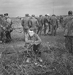 German prisoners at the Anzio beachhead below Rome, soon to be sent to prison camps. February 1944.