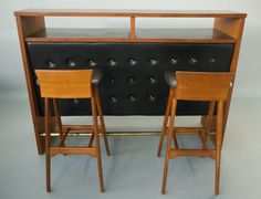 Erik Buch Danish Modern Teak Stools Stand Up Cocktail Bar. $3,295.00, via Etsy.