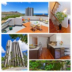 Just listed: Liliuokalani Garden's completely renovated PENTHOUSE! Multi-level 2bd/2.5ba apartment with a large rooftop deck w/ DH and ocean views! Great home in Waikiki but out of the hustle  bustle of Waikiki! Www.300wainaniunitiiph15.kahalaassociates.com