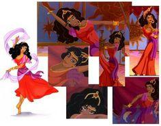 Esmeralda Next Disney Princess, Disney Girls, Disney Love, Princess Art, Disney Stuff, Red Costume, Cool Costumes, Halloween Costumes, Costume Ideas