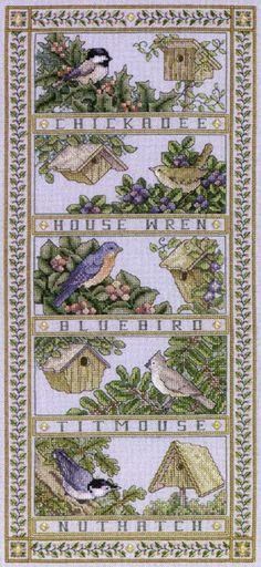 teresa wentzler cross stitch designs | Teresa Wentzler - Birdhouse Bellpull