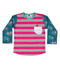 Ruby Tuesday L/S Pocket T Shirt, Oishi-m Clothing for kids, Autumn 2016, www.oishi-m.com