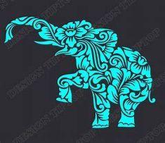 Gift idea: Sailey's mom has got it goin on Elephant Stencil, Elephant Template, Zentangle Elephant, Cricut Air, Cricut Vinyl, Silhouette Cameo Projects, Silhouette Design, Shilouette Cameo, Cricut Explore Air