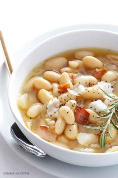 Toskanische weiße-Bohnen-Suppe