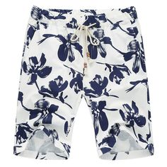 2016 Men Beach Homme Bermuda Shorts Men's Casual Fashion Slim Fit Large Size Knee Length Beach Floral Short Outwear Trousers Men