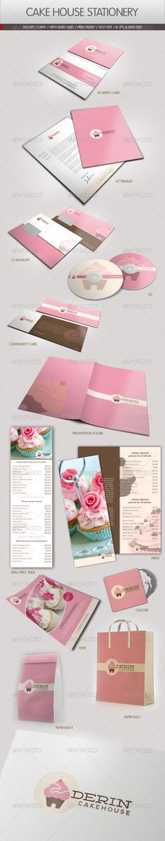 Cake House Corporate Identity -- love their branding examples, flawless!