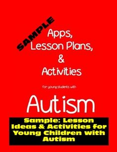 Freebie. Ideas for activities for students with autism. #autism #ideas #freebie