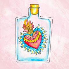 CuoreSacro #illustration #design #graphicdesign #illustree #drawing #draw #digitalart #digital #watercolor #gallery #galleryart #artwork #art #heart #mexican
