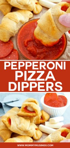 Easy Pizza Dippers Made with Crescent Rolls #gamedayfood #pizza #appetizers #easyappetizer #partyfood #afterschoolsnacks
