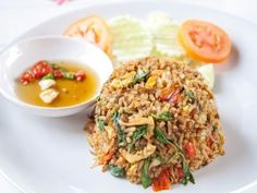 Spicy Thai Basil Fried Rice Basil Fried Rice, Spicy Rice, Shrimp Fried Rice, Spicy Thai, Thai Rice, Thai Pineapple Fried Rice, Thai Dishes, Rice Dishes, Vegetarian Rice Recipes