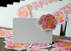 Peony Place cards - for events weddings, parties and holiday entertaining on Etsy, $100.00
