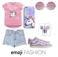 """Unicorn 🦄"" by naviere05 on Polyvore featuring Emoji and Vans"