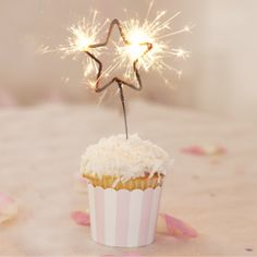 sparkling star birthday candles