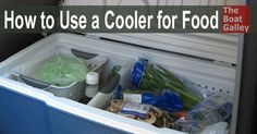 How to Use a Cooler for Food