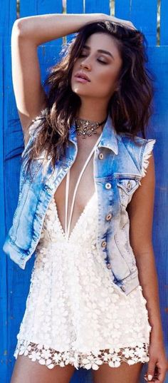 Shay Mitchell in Romper – Missguided  Necklace – Child of Wild