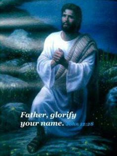 """John 17: Jesus spoke these things, and raising His eyes to heaven, he said: """"Father, the hour has come. Glorify your Son so that your Son may glorify you,  3This means everlasting life, their coming to know you, the only true God, and the one whom you sent,  4 I have glorified You on the earth, having finished the work You have given me to do."""