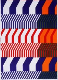 87/1085 Textile length, 'Piano', cotton, designed by Katsuji Wakisaka, made by Marimekko, Finland 1972 - Powerhouse Museum Collection