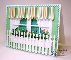 double window card with awning by Cely Smith
