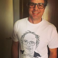 """Mark Ruffalo in Bernie T-Shirt is LIFE. Good people supporting good people. I'm in Europe right now and every single person says """"we don't understand why anyone would not vote for Bernie?""""....French Germans Australians Scandinavians. The world wants to see the US take a step forward. Sure they are all scared shitless of a Trump or Cruz but nobody understands why there is even a debate between Hillary and Bernie. """"They just like her because she knows how to play the game? Because she is a…"""