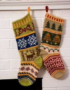 Mix-It-Up Christmas Stranded Stocking Pattern - Knitting Patterns by Terry Morris This smowflake Knitted Christmas Stocking Patterns, Unique Christmas Stockings, Xmas Stockings, Christmas Knitting, Knitting Charts, Knitting Socks, Hand Knitting, Knitting Patterns, Crochet Patterns