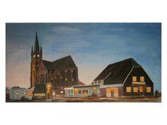 GotikART Kirche in der Dämmerung 30x60x3,7 cm von Ulrike-Maria-Tenk-Impresssionen auf DaWanda.com