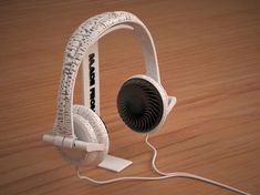 """Designer Brian Garret – Printed Headphones… Industrial Designer Brian Garret explored opportunities of mass-customization in his graduation thesis """"User Customization through Rapid M… Buy A 3d Printer, 3d Printing Store, 3d Things, 3d Printed Objects, Fabric Manipulation, Love Design, Applique Designs, Cool Gadgets, Cool Stuff"""