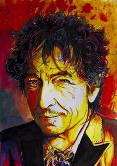 29 Bob dylan , art,painting,drawing
