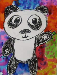Cassie Stephens: In the Art Room: Where the Party Pandas At? Kindergarten Art Lessons, Art Lessons Elementary, Art Sub Plans, Art Lesson Plans, Art Sub Lessons, Panda Drawing, Cassie Stephens, Easy Drawings Sketches, Art Classroom