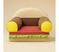 Why is all the cute furniture kid sized?  I want a hamburger chair.