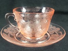 MacBeth-Evans DOGWOOD aka Apple Blossom Depression Era Cup & Saucer 1930's