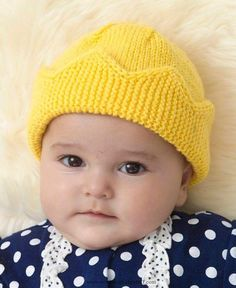 Child Knitting Patterns Free Knitting Sample for Child Crown Hat – This enjoyable hat by Linda Cyr is available in two sizes. The crown brim is knit flat and the stitches are picked up for the remainder of the hat. Baby Knitting Patterns