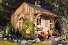 Garden shed that looks like a cabin
