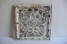 Antique Cast iron Metal Grate Floor Wall Register by SalvageRelics